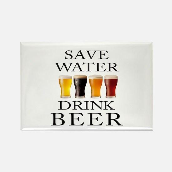 Save Water Drink Beer Magnets