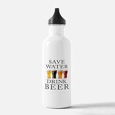 Save Water Drink Beer Sports Water Bottle