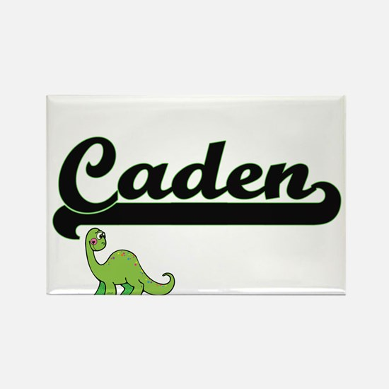 Caden Classic Name Design with Dinosaur Magnets