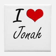 I Love Jonah Tile Coaster