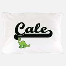 Cale Classic Name Design with Dinosaur Pillow Case