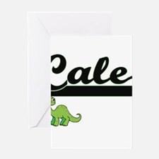 Cale Classic Name Design with Dinos Greeting Cards