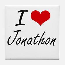 I Love Jonathon Tile Coaster