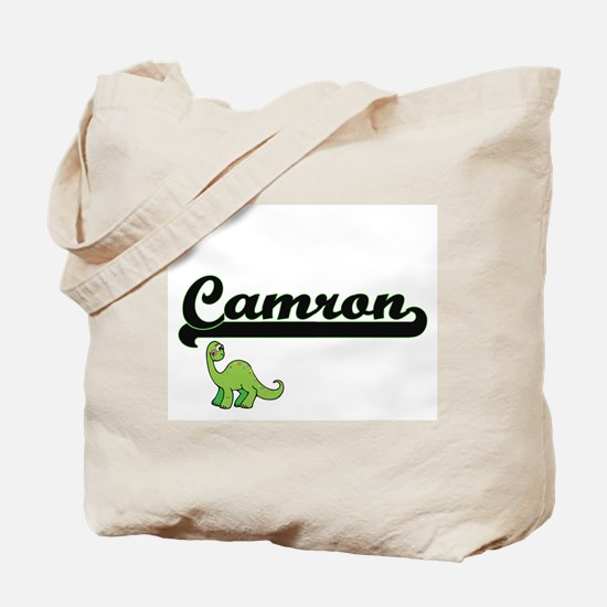 Camron Classic Name Design with Dinosaur Tote Bag
