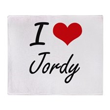 I Love Jordy Throw Blanket