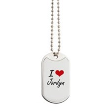 I Love Jordyn Dog Tags