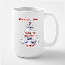 Hawaiian Food Pyramid Large Mug
