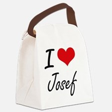 I Love Josef Canvas Lunch Bag