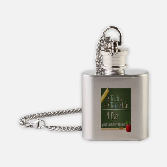 2 Teach 2 Touch a Life  Flask Necklace