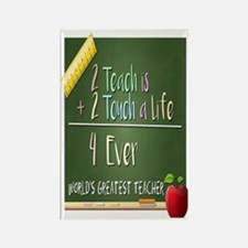 2 Teach 2 Touch a Life  Rectangle Magnet