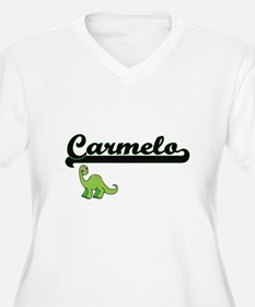 Carmelo Classic Name Design with Plus Size T-Shirt