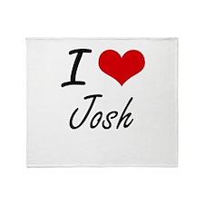 I Love Josh Throw Blanket