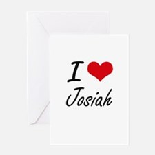 I Love Josiah Greeting Cards
