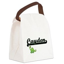 Cayden Classic Name Design with D Canvas Lunch Bag