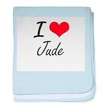 I Love Jude baby blanket