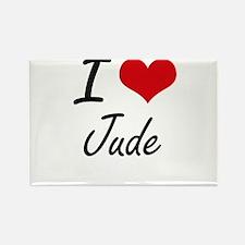 I Love Jude Magnets