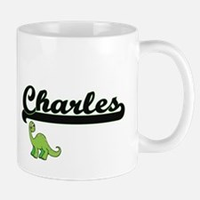 Charles Classic Name Design with Dinosa Mugs