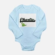 Charlie Classic Name Design with Dinosau Body Suit