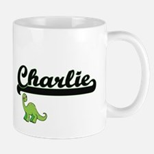 Charlie Classic Name Design with Dinosaur Mugs