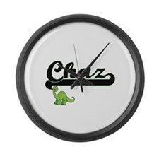 Chaz Classic Name Design with Din Large Wall Clock