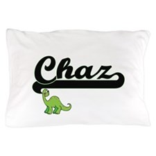 Chaz Classic Name Design with Dinosaur Pillow Case