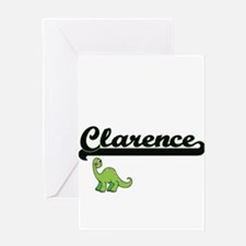 Clarence Classic Name Design with D Greeting Cards