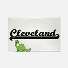 Cleveland Classic Name Design with Dinosau Magnets