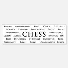 Chess Bumper Car Car Sticker