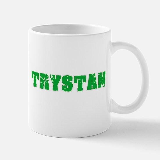 Trystan Name Weathered Green Design Mugs