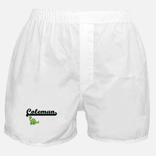 Coleman Classic Name Design with Dino Boxer Shorts