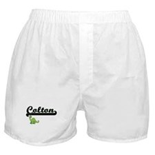 Colton Classic Name Design with Dinos Boxer Shorts
