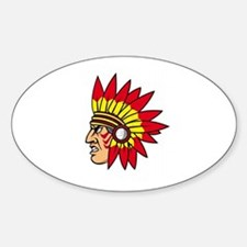 INDIAN NAME Oval Decal