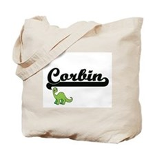 Corbin Classic Name Design with Dinosaur Tote Bag