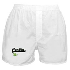 Corbin Classic Name Design with Dinos Boxer Shorts