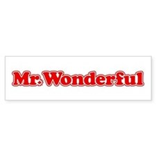 Mr. Wonderful Bumper Bumper Sticker