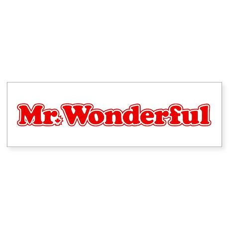 Mr. Wonderful Bumper Sticker