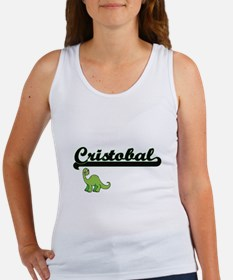 Cristobal Classic Name Design with Dinosa Tank Top