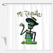 Mi Tequila Day of the Dead Shower Curtain