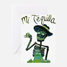 Mi Tequila Day of the Dead Greeting Cards