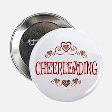 """Cheerleading Hearts 2.25"""" Button"""