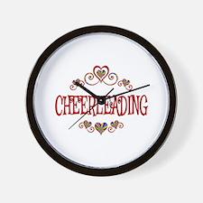 Cheerleading Hearts Wall Clock