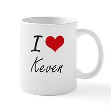 I Love Keven Mugs