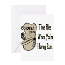 Rum Drinking Shirts and Gifts Greeting Cards