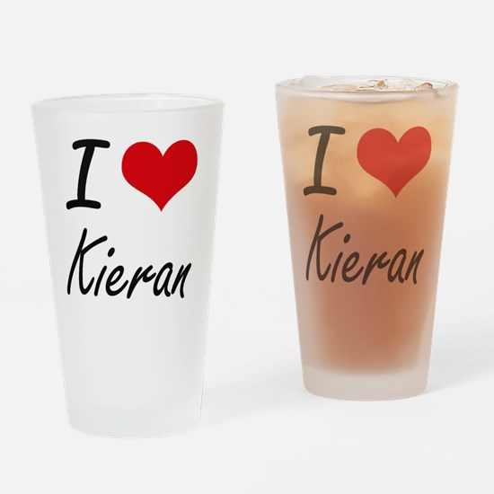 I Love Kieran Drinking Glass