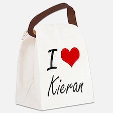 I Love Kieran Canvas Lunch Bag