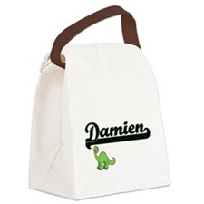 Damien Classic Name Design with D Canvas Lunch Bag