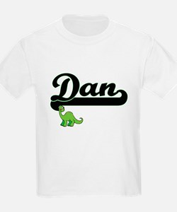 Dan Classic Name Design with Dinosaur T-Shirt