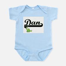 Dan Classic Name Design with Dinosaur Body Suit