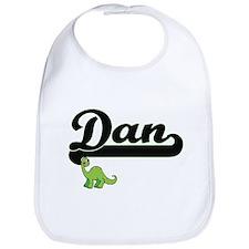 Dan Classic Name Design with Dinosaur Bib