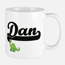 Dan Classic Name Design with Dinosaur Mugs
